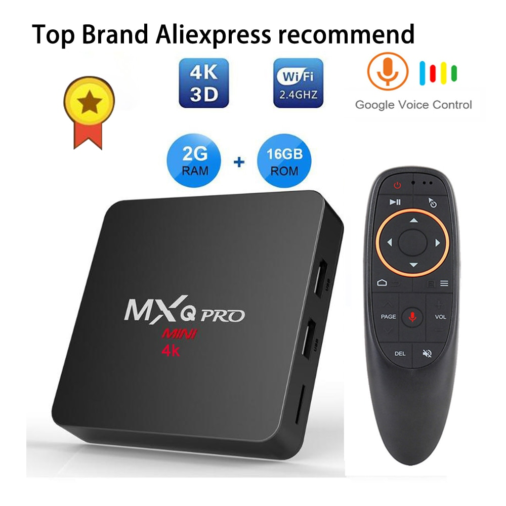 Android tv box iptv subscription MXQ pro RK3229 4k 2G 16G Smart BOX Android  7 1 4K Tv HD 3D 2 4G WiFi h96 max X96 tv android boX