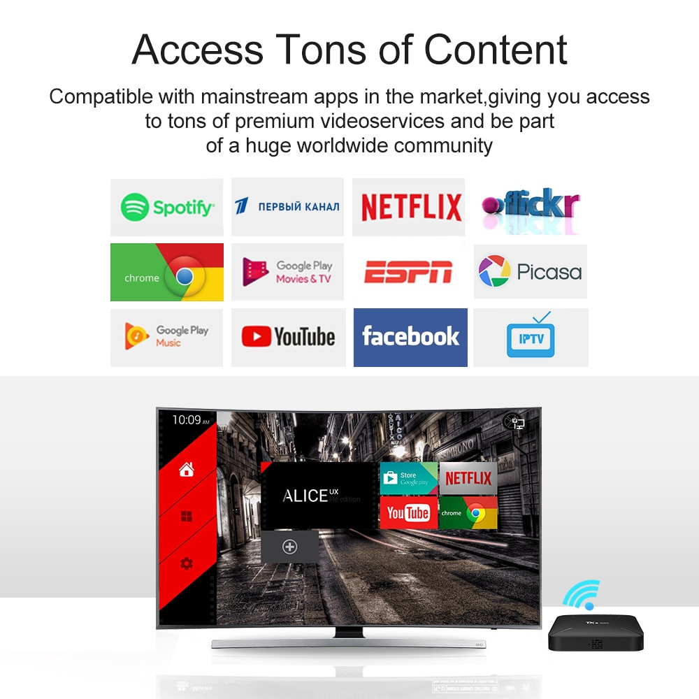 LEMFO TX6 Mini Smart Android TV Box Android 9 0 Quad Core 2GB + 16GB 2 4G  WiFi 4K HD AirPlay Set Top Box Supports Multi-Language