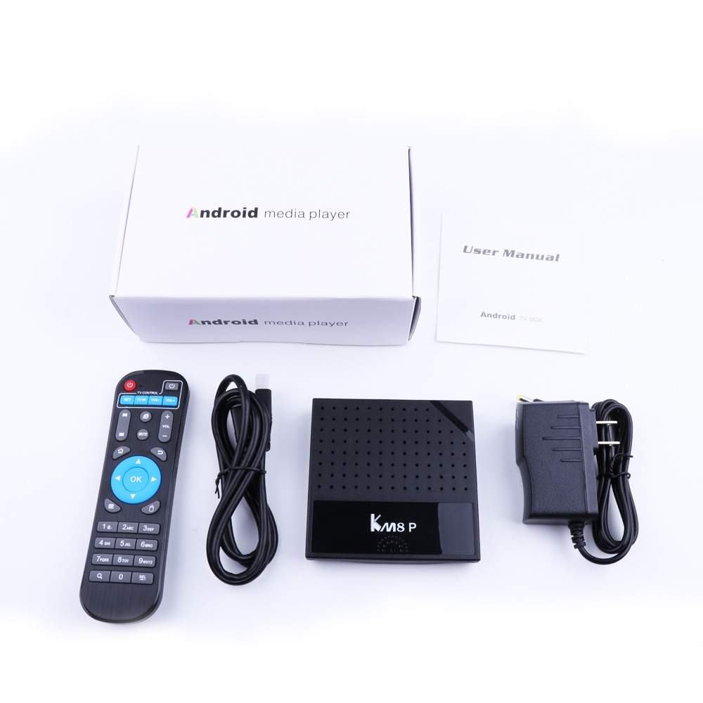 Mecool KM8 P Amlogic S912 Android 7 1 Smart TV Box ROM 1G RAM 8G ROM 2 4G  WiFi 4K Ultra Thin HD Set Top Box Player Support 3D