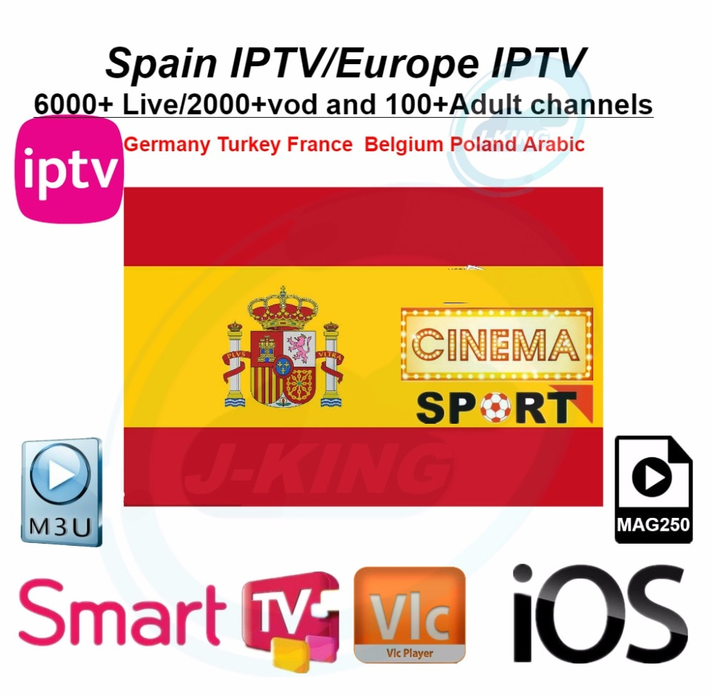 Spain IPTV Spanish Channel M3u Abonnement Iptv UK Italy Spaans france  Germany Portugal Voor Android Box Enigma2 m3u Smart TV PC