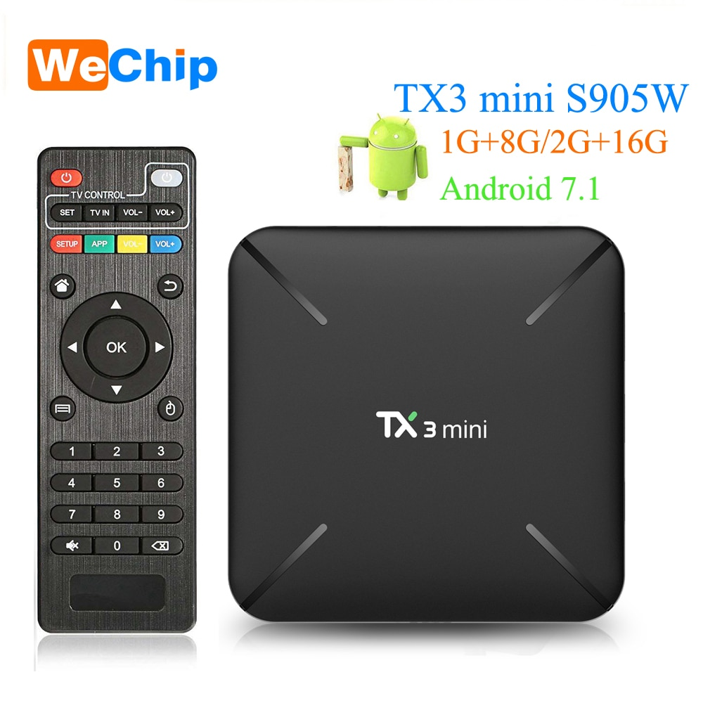 4K Amlogic S905W 1GB 2GB Android 7.1 Quad Core WIFI 3D Smart TV BOX Media Player